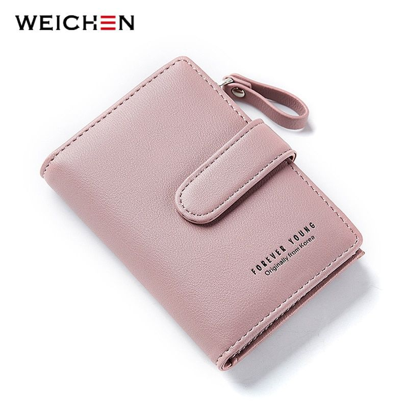 WEICHEN Leather Car Key Holder for Women Key Wallets Housekeeper Keys Female Hasp Door Key Chain Organzier Key Case Coin Bag