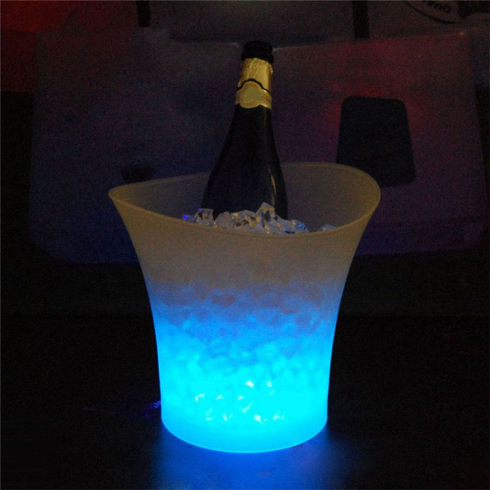 7 Colors LED Light Changeable Ice Bucket Champagne Wine Beverage Drinks Beer Ice Cooler Bar Party Tools Christmas Party Supplies