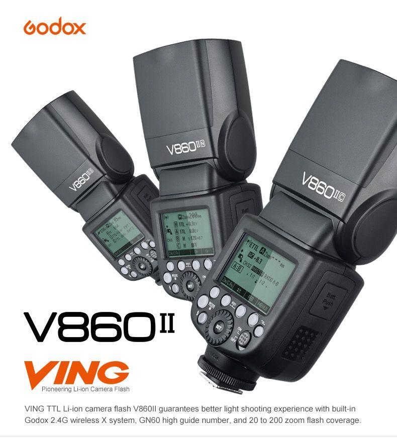 Godox Ving V860II V860II-C E-TTL HSS 1/8000 Li-ion Battery Speedlite Flash for Canon 5D Mark III 80D 70D 700D 760D 600D 5DS DSLR