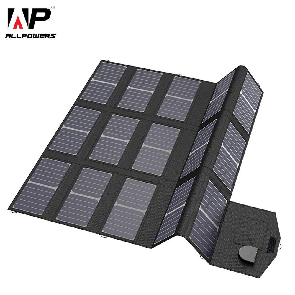 ALLPOWERS Handy-ladegeräte Smartphone Ladegerät 5 V 12 V 18 V 100 Watt USB DC Solarpanel Akku für Laptop Tablet Sony HTC LG