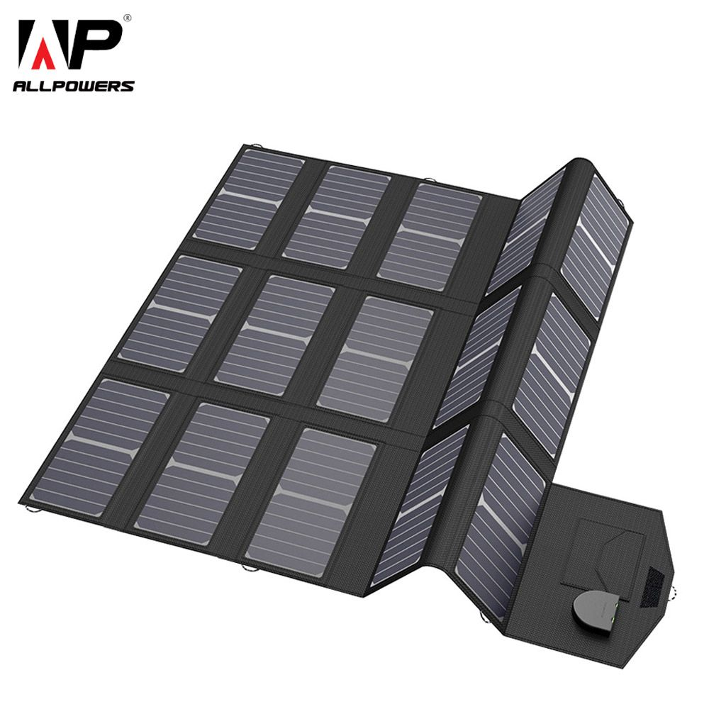 ALLPOWERS Mobile Phone Chargers Smartphone Charger 5V 12V 18V 100W USB DC Solar Panel Battery Pack for Laptop Tablet Cellphones