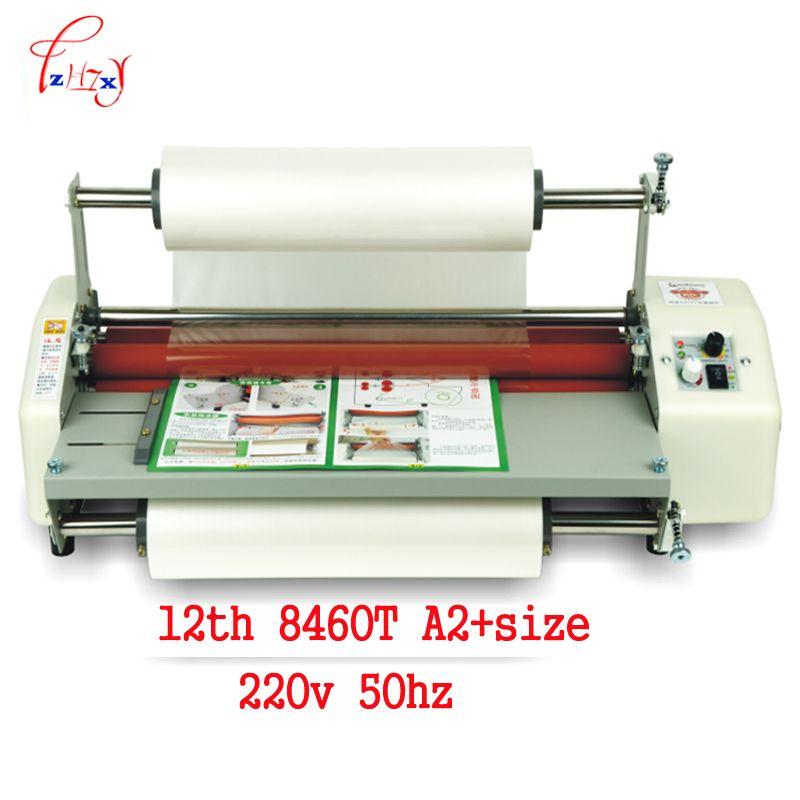 12th 8460 T A2 + papier laminator maschine Mühle Roller kalten Heißen laminator Roll Maschine film laminator laminieren maschine