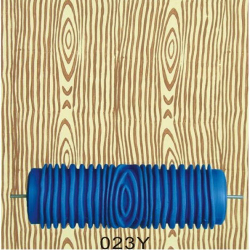 Outils à main pour La Maison-5 pouces en caoutchouc rouleaux de peinture murale, bois grain rouleau à motif bleu sans poignée grip, 023Y, livraison gratuite