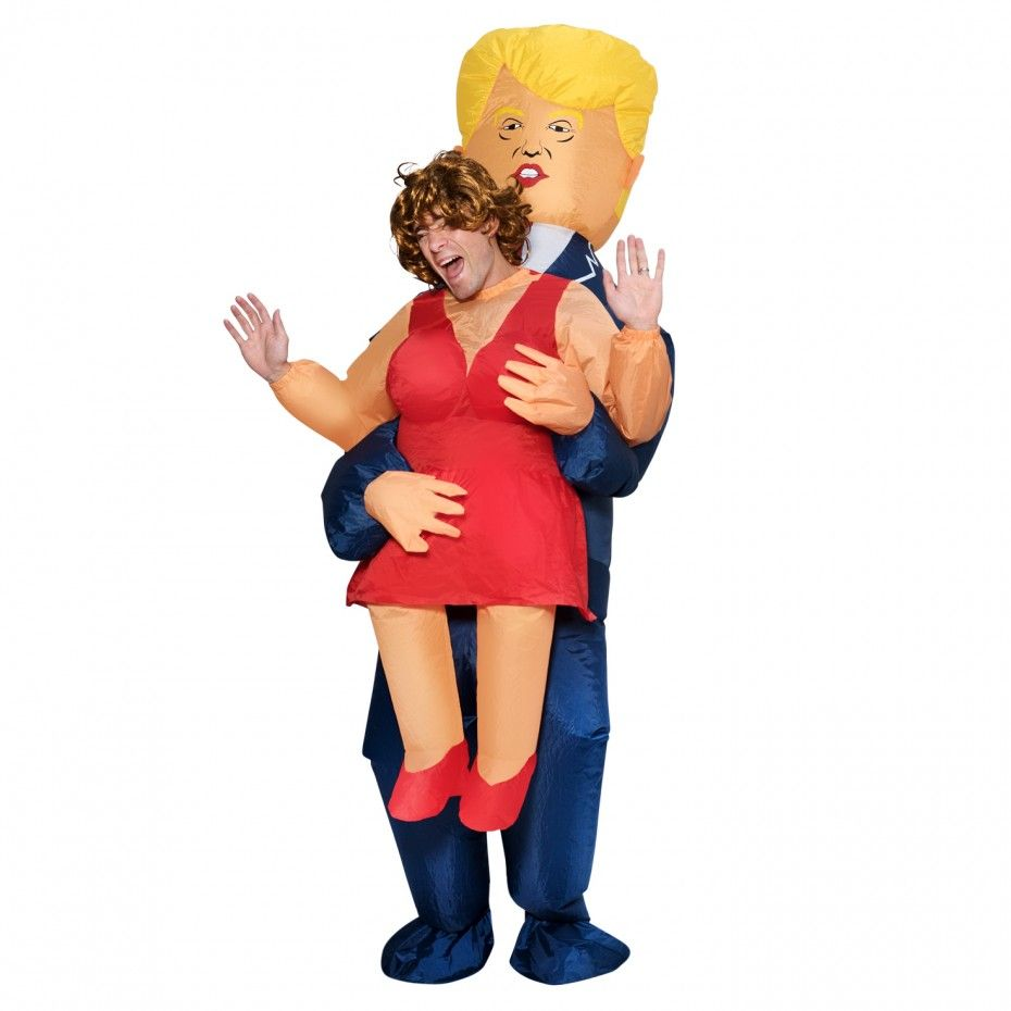 Trump President Inflatable Costume For Adult Christmas/Halloween/Birthday/Make-up Party Fun Toys Dress Up Cosplay Suits Outfit
