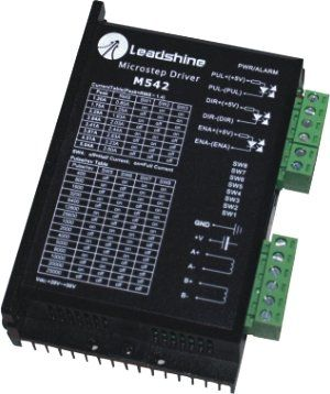New Leadshine 2-phase microstepping Drive M542 work at 24-50 VDC output 1.0A to 4.2A Current fit for stepper motor NEMA 23 cnc