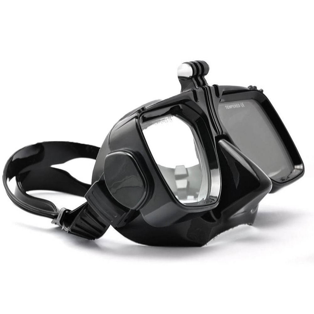Pour GoPro Plongée Accessoires Go Pro Hero 4 5 6 SJCAM SJ4000/5000/6000 Pour Xiao yi De Bain lunettes Masque de Plongée Action Mount