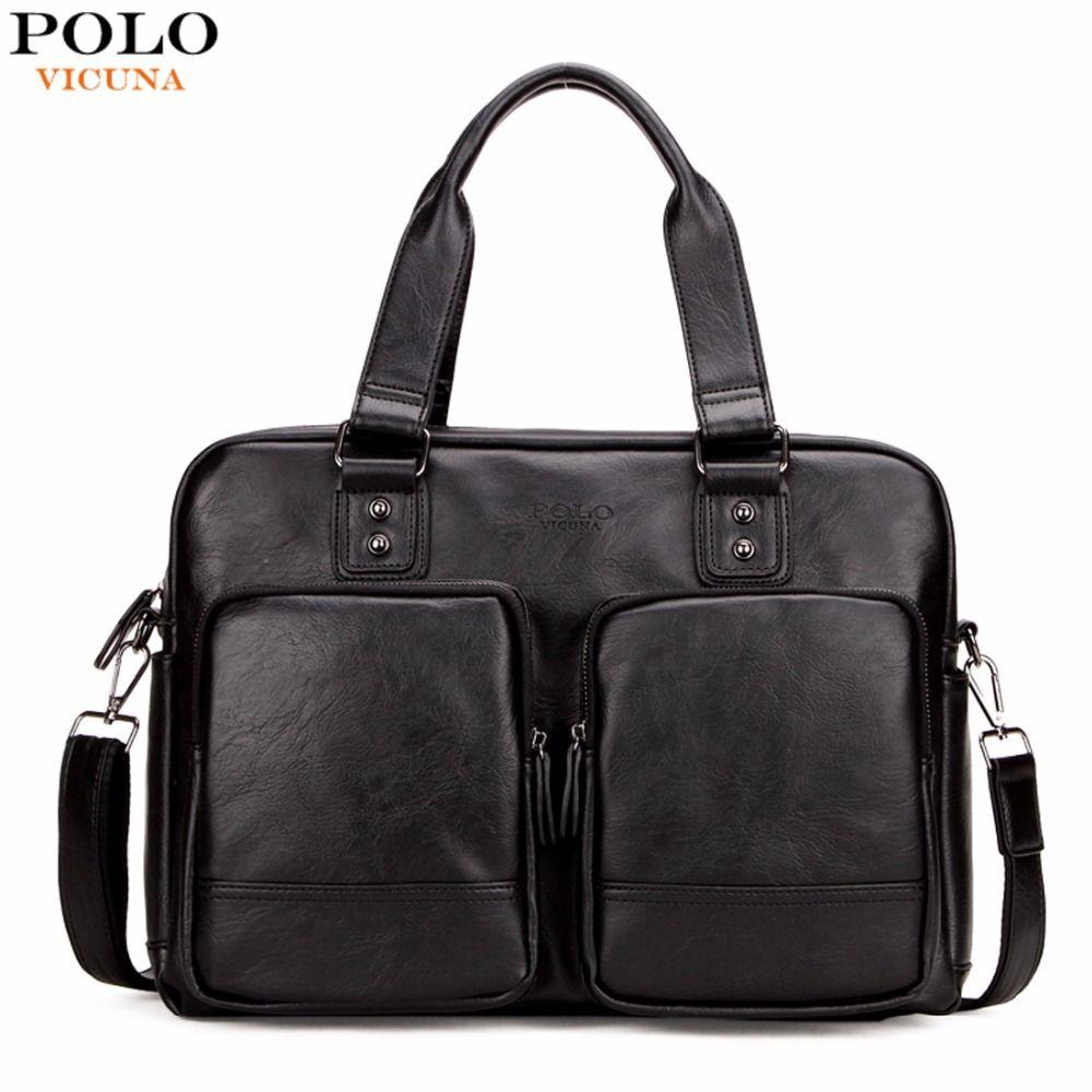 VICUÑA POLO de Promoción de Gran Tamaño de Los Hombres Bolsas de Viaje Con Gran bolsillos de Alta Calidad Bolsa de Viaje de Moda Hombre Bolso de Cuero Negro totalizador