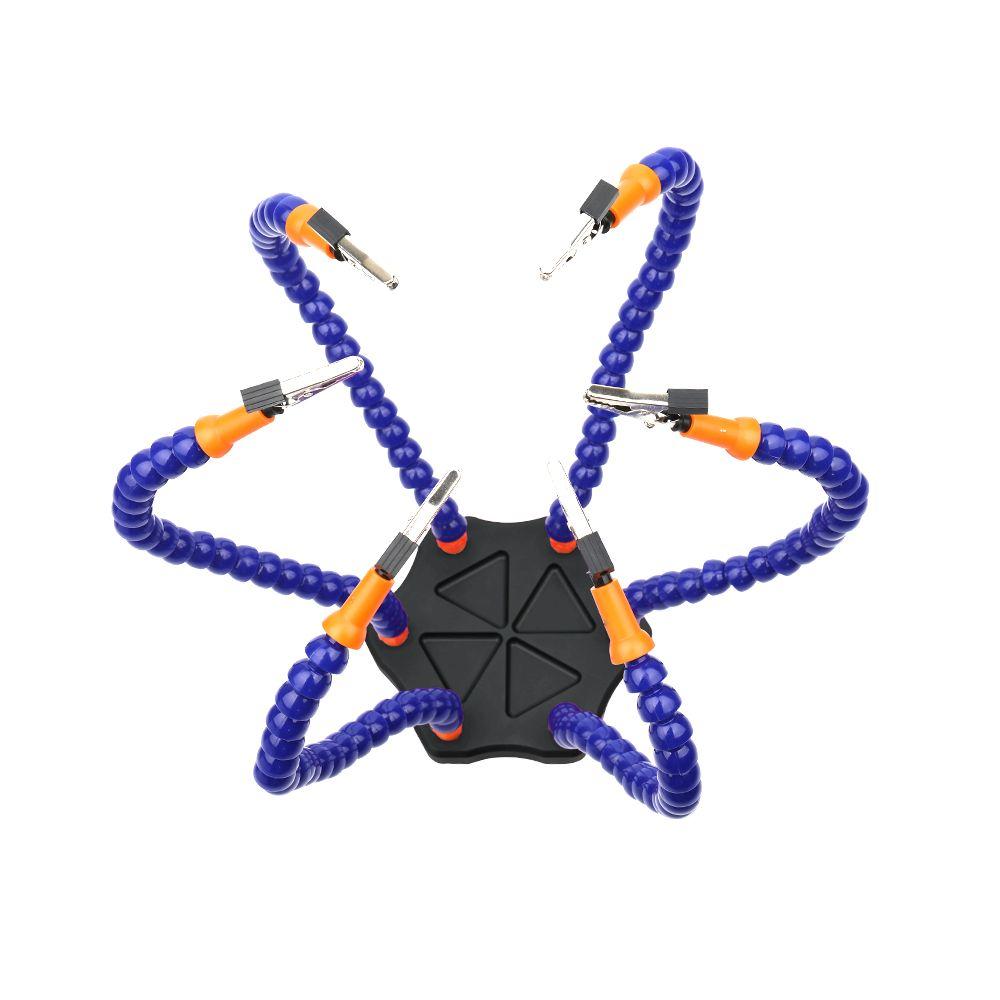 Multifunktionale Löten Helping Hands mit 6 stücke Flexible Arme für Platine Schweiß Hilfs Werkzeuge gedreht zu 360 grad