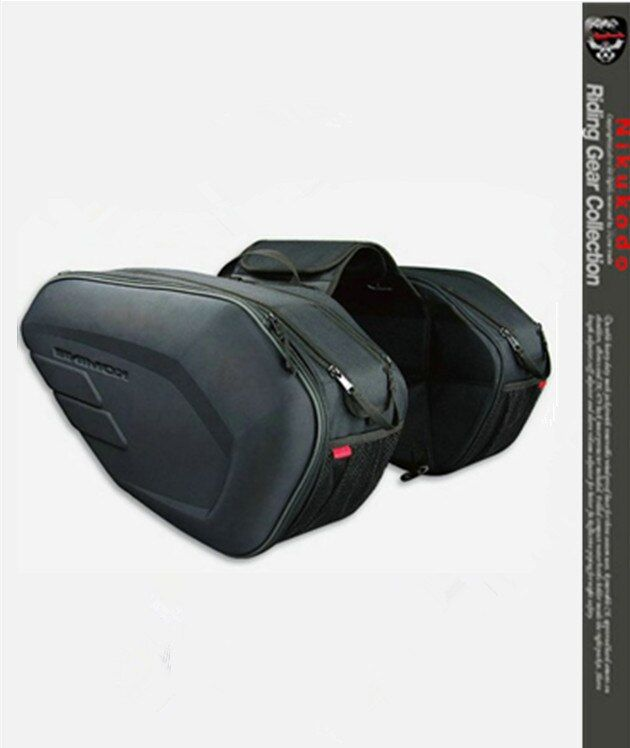Free shipping 2017 new Oxford cloth motorcycle saddle bag helmet package moto saddle bag + waterproof cover + plastic plate