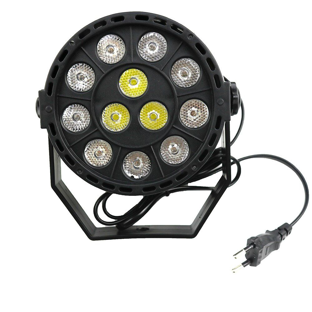 LED Par Light Stage lighting Moving Head Light 12 x 1W LED High Powe Light RGBW mixing color for Music DJ Disco Party Show Bar