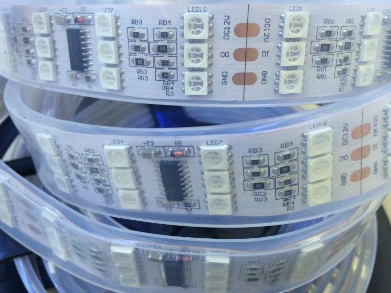 12 V étanche TM1812 5050 bande de pixel LED rvb 5 m 144 leds/m trois rangées numérique rêve couleur bande flexible lumière livraison gratuite