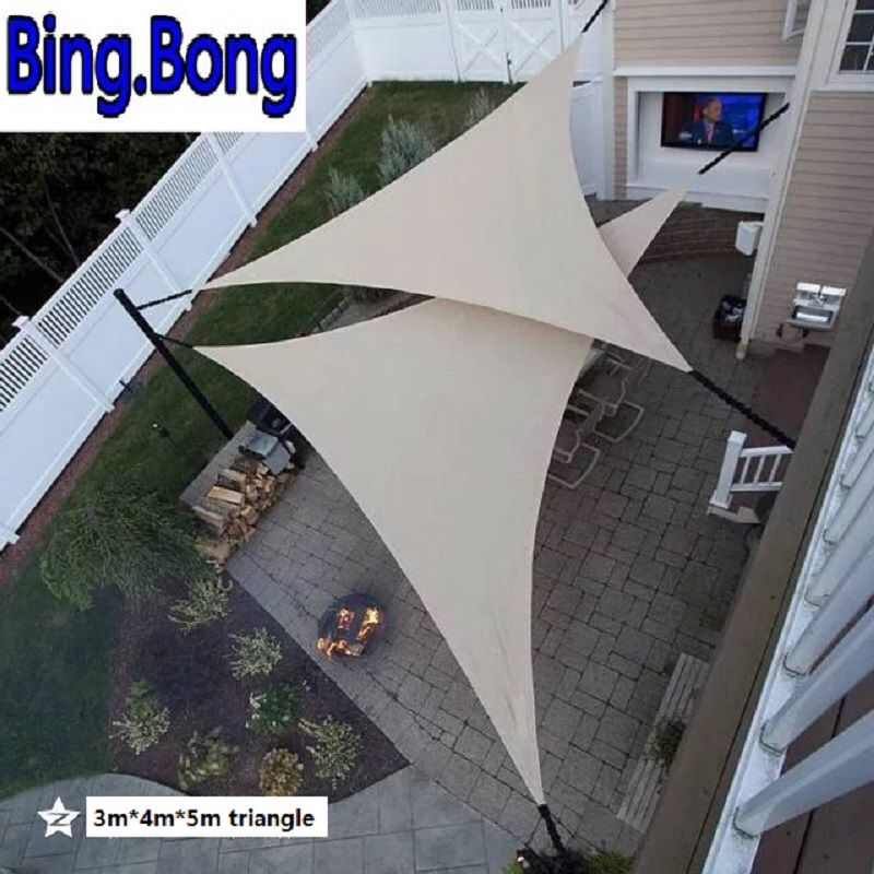USA free Outdoor sun shade sail garden netting 3*4*5m HDPE Anti-UV sunblock shading nets awning gazebo canopy car cover tents