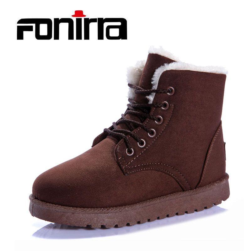 Fonirra женские зимние ботинки Martin Классическая зимняя верхняя одежда из хлопка теплая меховая обувь одноцветное Цвет доступны обувь 060