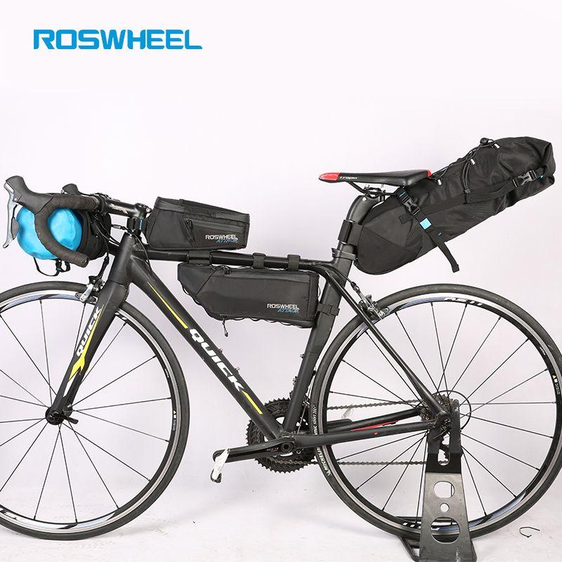 ROSWHEEL Fahrrad taschen Bike kopf vorne rohr tasche Voll wasserdichte nylon Schwanz satteltaschen Fahrrad packtaschen ANGRIFF SERIE