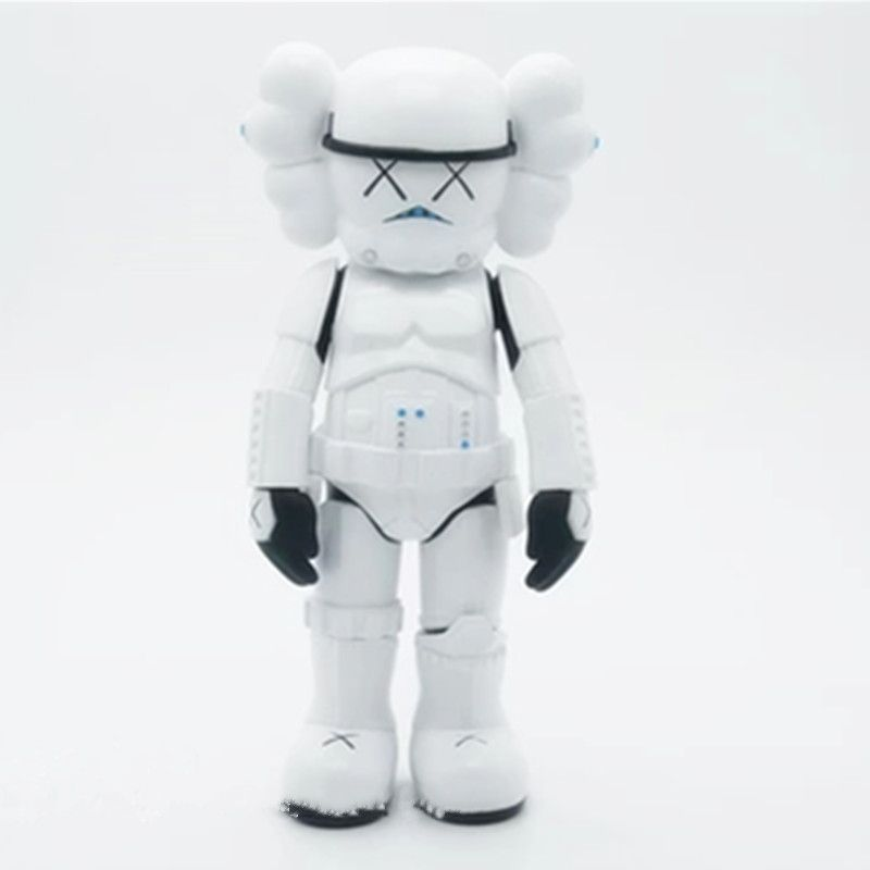 10Inches KAWS Trend Star Wars White Soldiers Originalfake BFF Street Art PVC Action Figure Collectible Model Medicom Toy S160