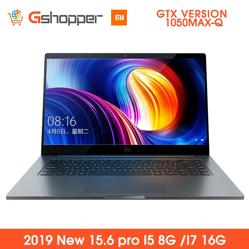 Original Xiaomi Notebook Pro 15,6 ''Laptop 1050MAX-Q Air Intel Core GDDR5 256GB SSD DDR4 2400MHz Windows Fingerprint anerkennung