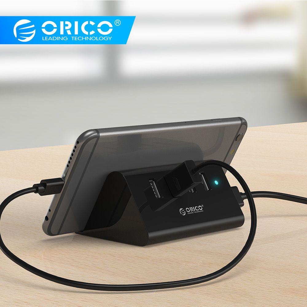 ORICO SHC HUB USB Mini 4 ports USB 3.0/2.0 HUB avec support de tablette téléphone 1 M cordon de données séparateur USB pour ordinateur portable notebook