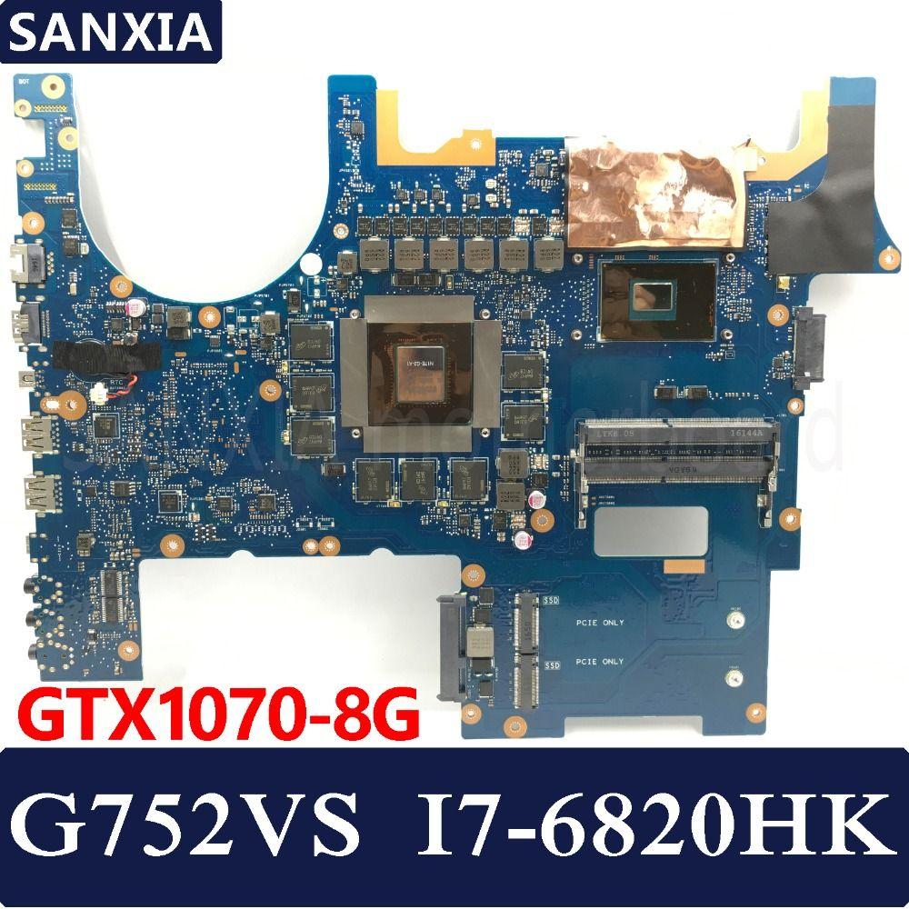 KEFU ROG G752VS Laptop motherboard for ASUS G752VS G752VM G752VY G752V G752VML Test original mainboard I7-6820HK GTX1070-V8G