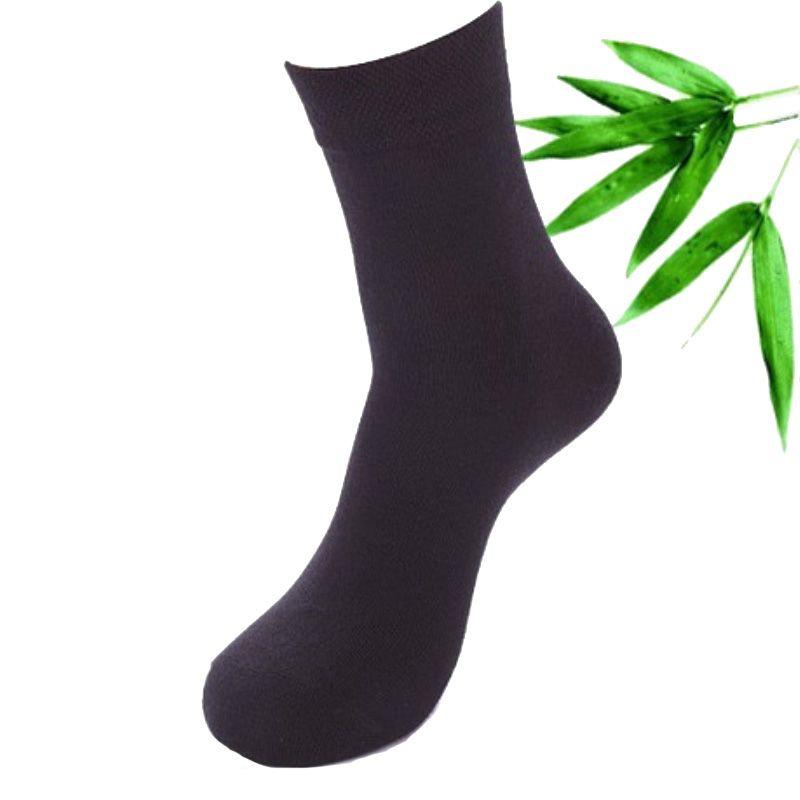 De haute Qualité Nouvelle Arrivée Marque 5 Paires/lot Hommes Chaussettes de Coton et Fiber De Bambou Classique Hommes D'affaires Chaussettes Déodorant Robe chaussettes