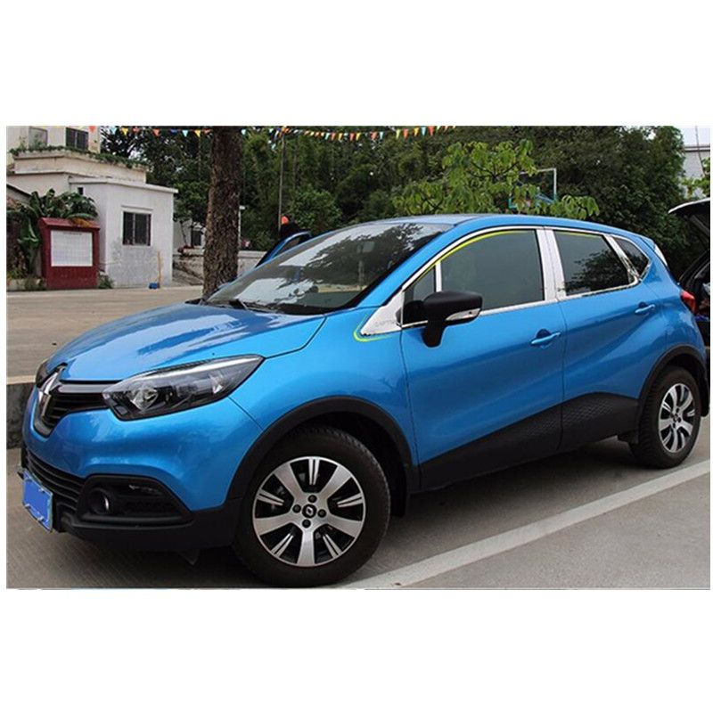 High quality stainless steel window trim strip(down,a Set For Renault Captur 2014 2015 Car styling