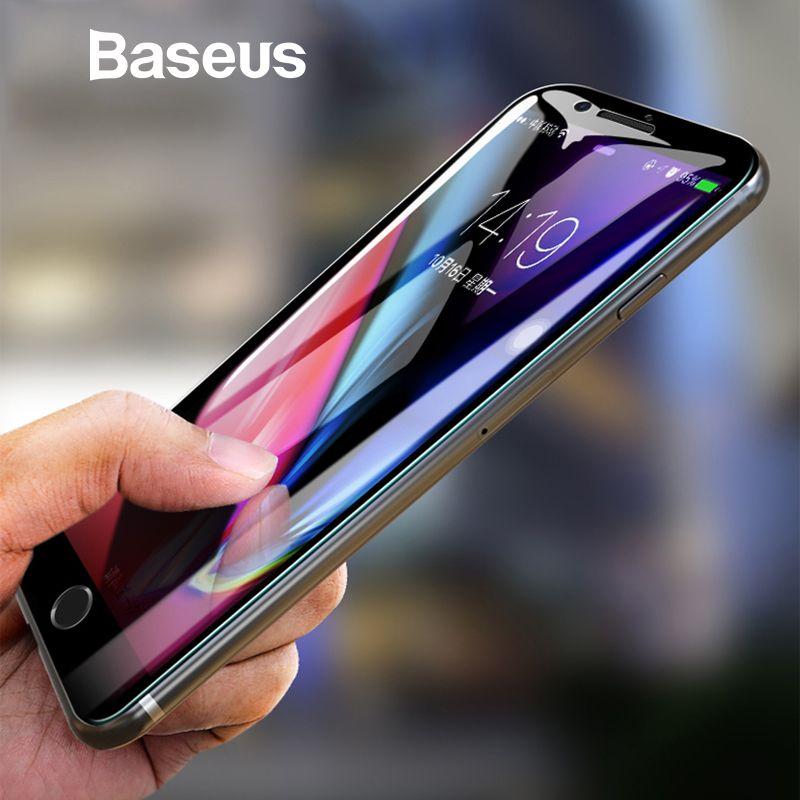 Baseus 5D protecteur d'écran Pour iPhone 7 8 verre trempé complet Écran Anti Bleu Lumière Avant Verre Pour iPhone 7 Plus 8 Plus verre