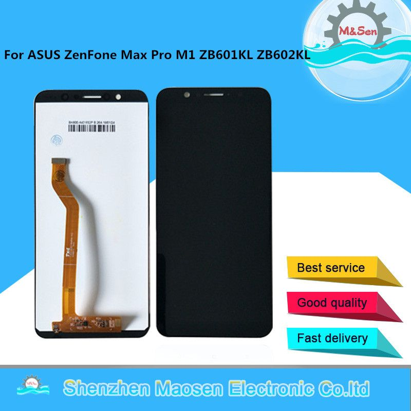 M&Sen For 5.99 ASUS ZenFone Max Pro M1 ZB601KL ZB602KL LCD screen display+touch panel digitizer ZB601KL ZB602KL display+tools