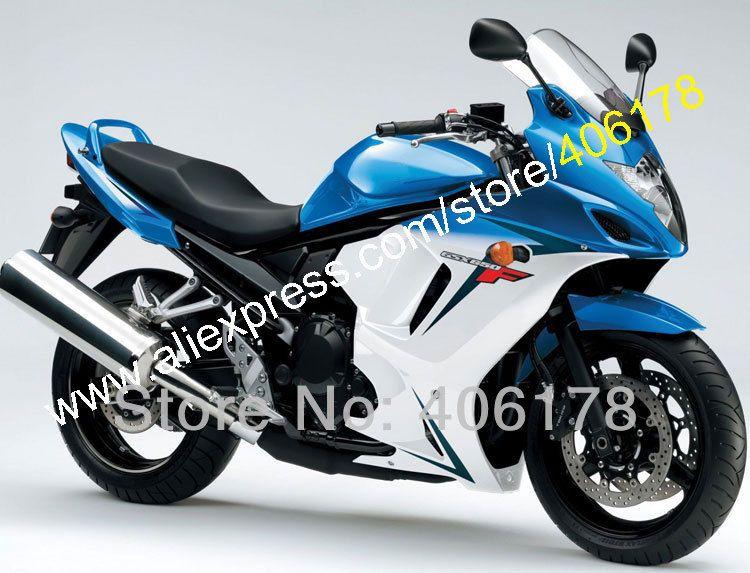 Heiße Verkäufe, für SUZUKI GSX650F GSXF 650 Blau weiß 08 09 10 11 12 13 GSX 650F GSXF650 2008 2009 2010 2011 2012 2013 verkleidungen