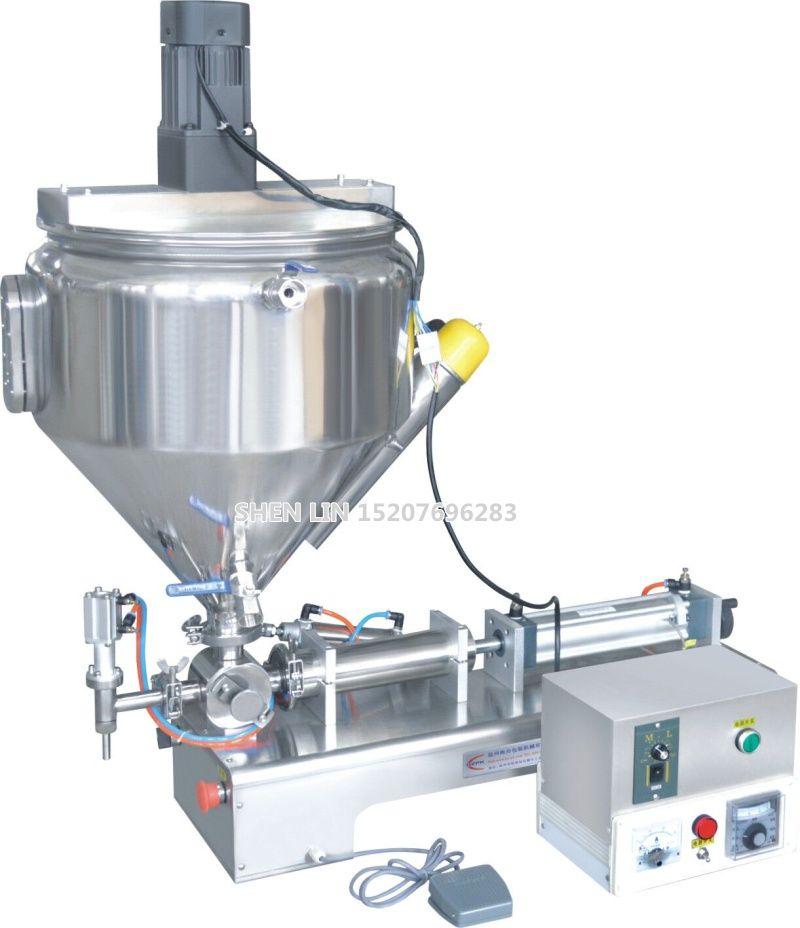 Füllmaschine, pasta sachen verpackung füllstoff, creme füllmaschine, 1000 ml, SS304, edelstahl, 30L trichter, heizung und mischen