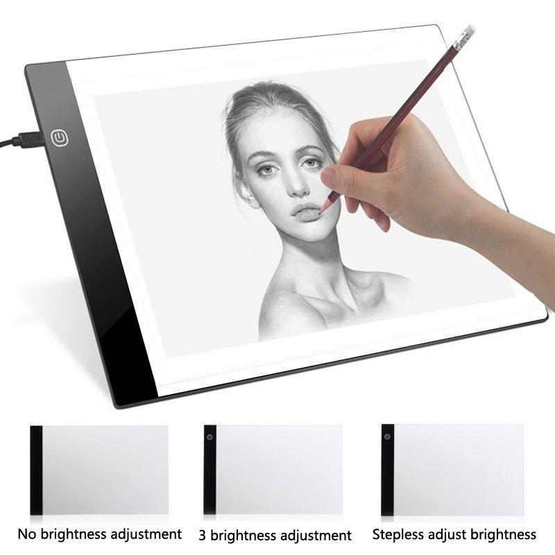Tablette graphique numérique A4 LED artiste mince Art pochoir planche à dessin boîte à lumière traçage écriture Portable tablette électronique Pad