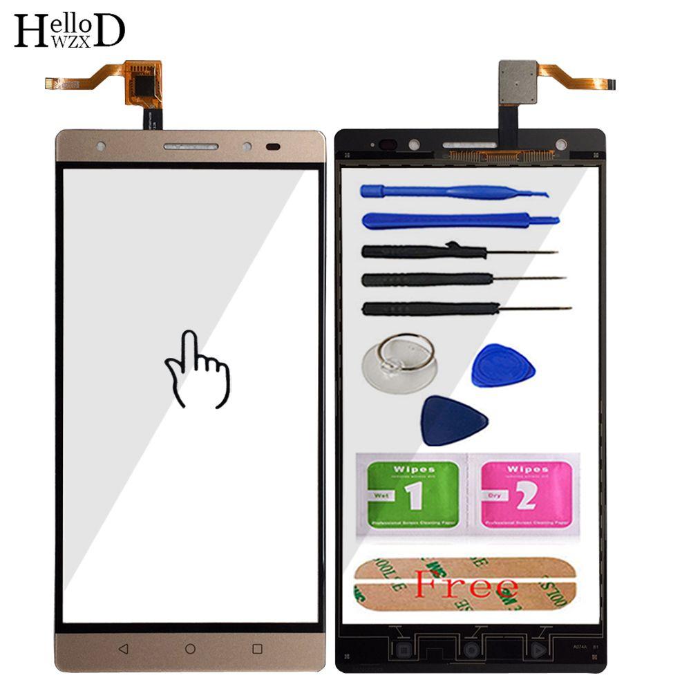 Touchscreen Front Für Lenovo PHAB 2 Plus Touchscreen Glas Digitizer Panel Sensor Flex Kabel Klebe Geschenk Werkzeuge