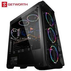 Getworth R31 refrigeración líquida Intel I7 escritorio I7 8700 K 8g Ram GTX1060 WD 240g SSD Win10 hogar 6 ventiladores LED PC refrigeración por agua