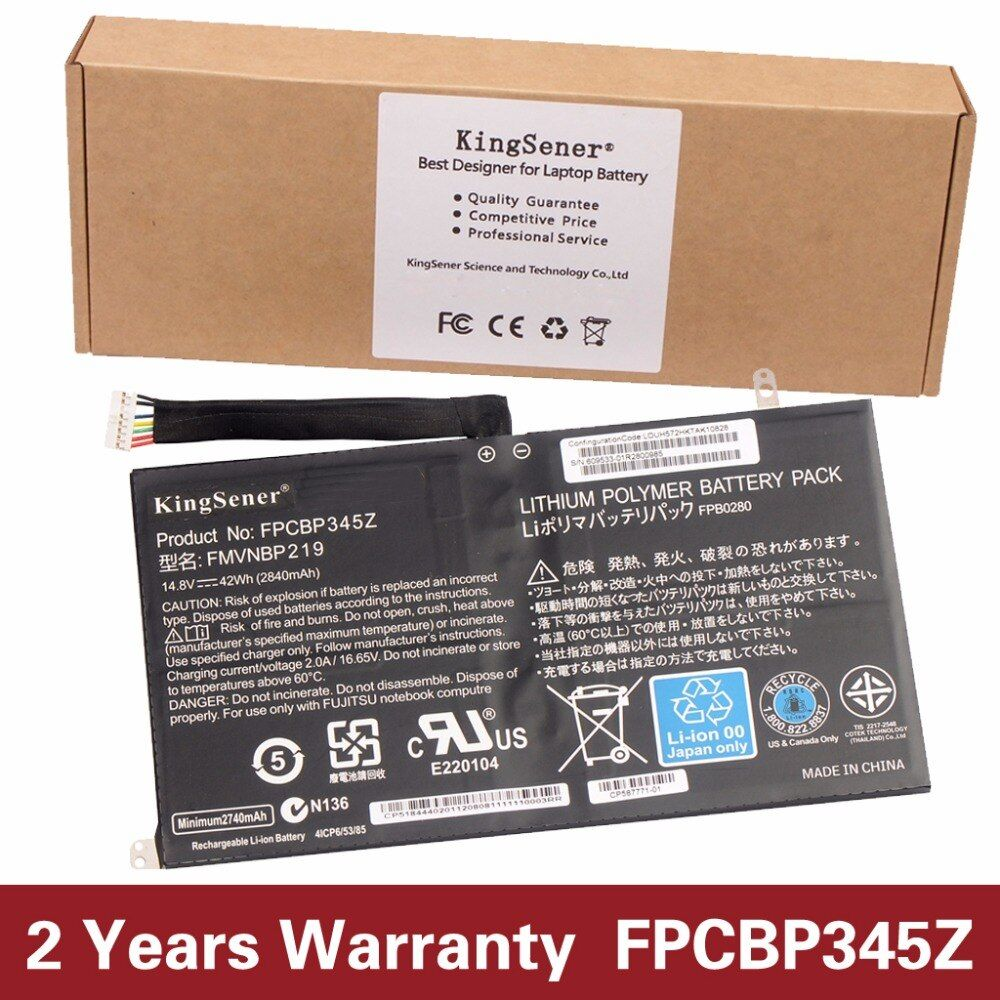 KingSener New FPCBP345Z Laptop Battery for Fujitsu LifeBook UH572 UH552 Ultrabook FMVNBP219 FPB0280 FPCBP345Z 14.8V 2840mAh