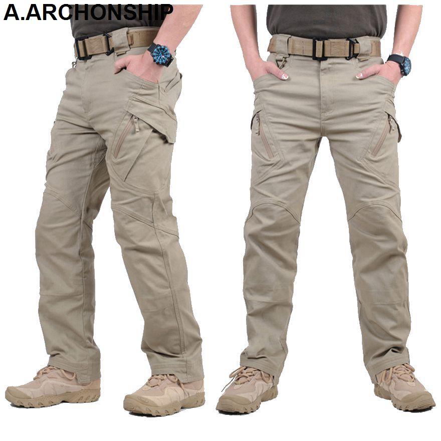 2017 IX9 II Men Militar Tactical Pants Combat Trousers SWAT <font><b>Army</b></font> Military Pants Mens Cargo Outdoors Pants Casual Cotton Trousers