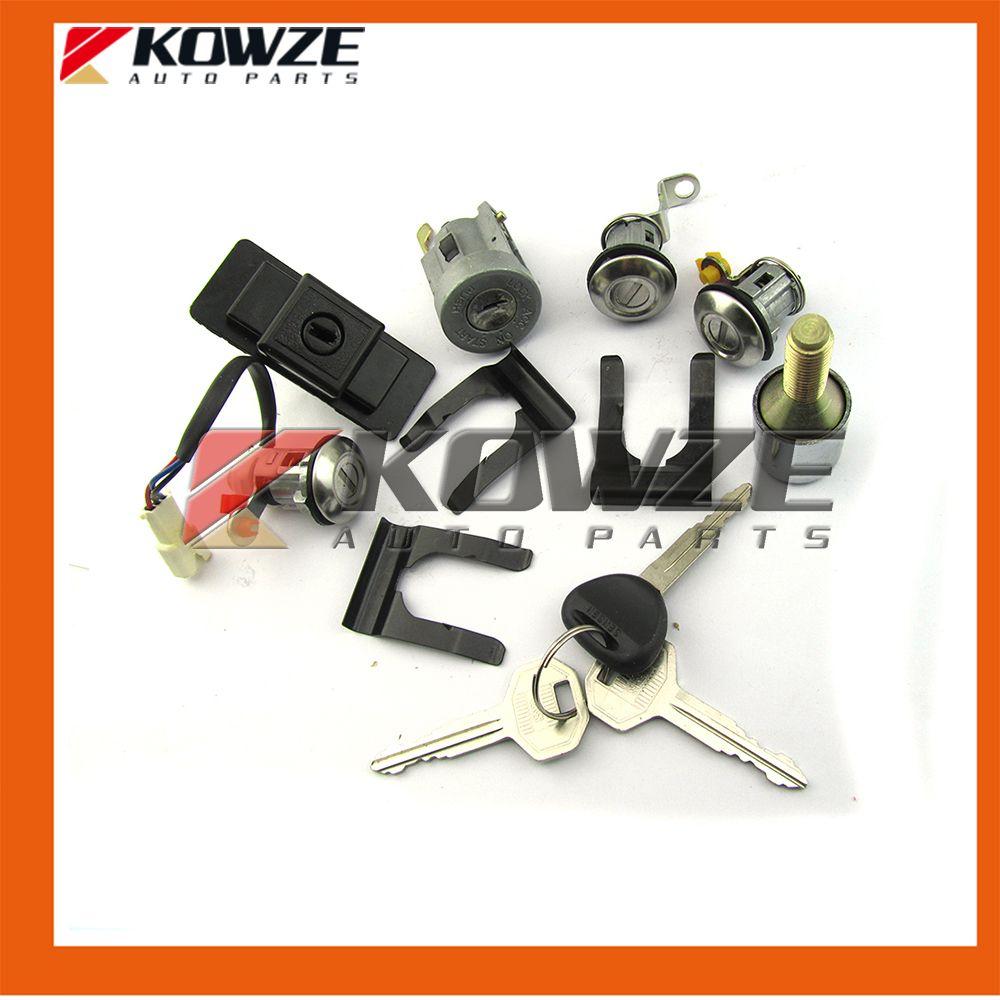 Lock Cylinder & Key Set For Mitsubishi Pajero V32 4G54 MR259111