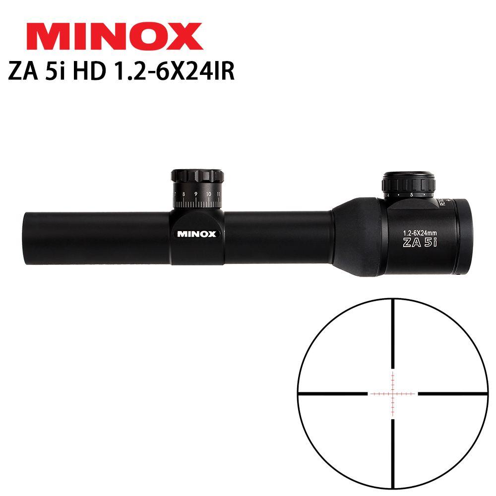 MINOX ZA 5i HD 1.2-6X24 IR Compact Hunting Rifle Scope Glass Etched Illuminated Reticle Long Eye Relief Sight RifleScopes