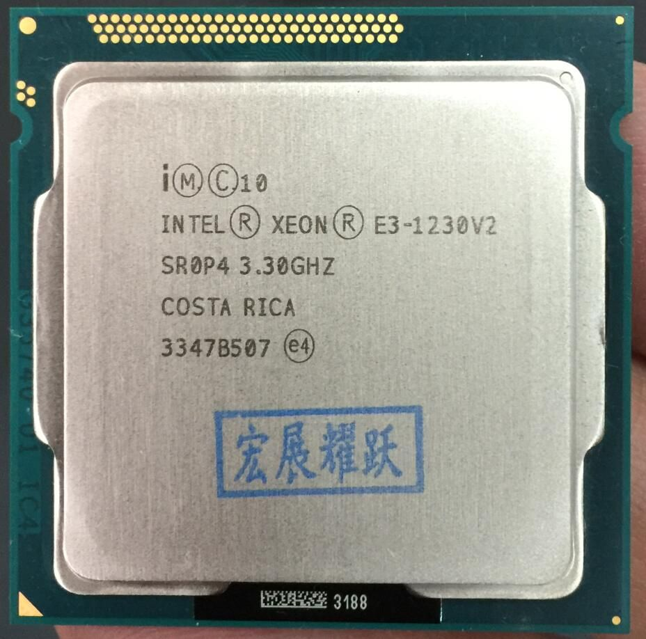 Processeur Intel Xeon E3-1230 v2 E3 1230 v2 PC ordinateur de bureau processeur Quad-Core processeur LGA1155 ordinateur de bureau