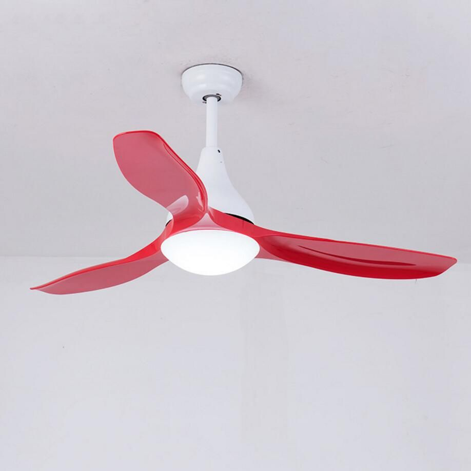 52 inch LED Ceiling Fan With Lights Remote Control 220 Volt Bedroom Ceiling Light Fan Lamp LED Bulbs free shipping