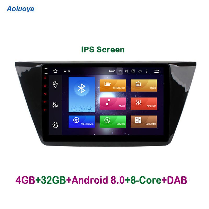 Aoluoya IPS RAM 4GB Octa Core Android 8.0 CAR Radio DVD GPS Navigation For VW Volkswagen Touran 2016 2017 audio multimedia WIFI