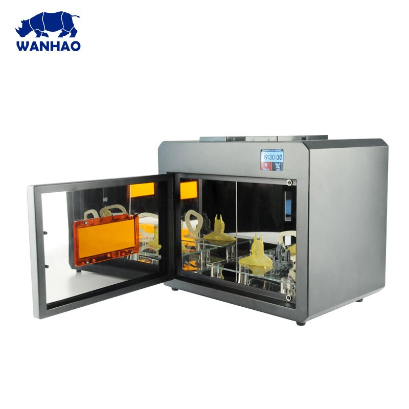 WANHAO UV LED Curing Box For Curing 3D Print Model With Super Cooling System Stainless Steel Super Clean Box Wanhao Boxman
