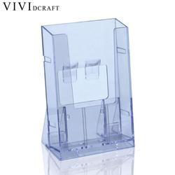 Vividcraft Bureau Affichage Clear Acrylique D'affaires Titulaire de la Carte Transparente Brochure Bureau Stand Brochure Support De Papier D'affichage