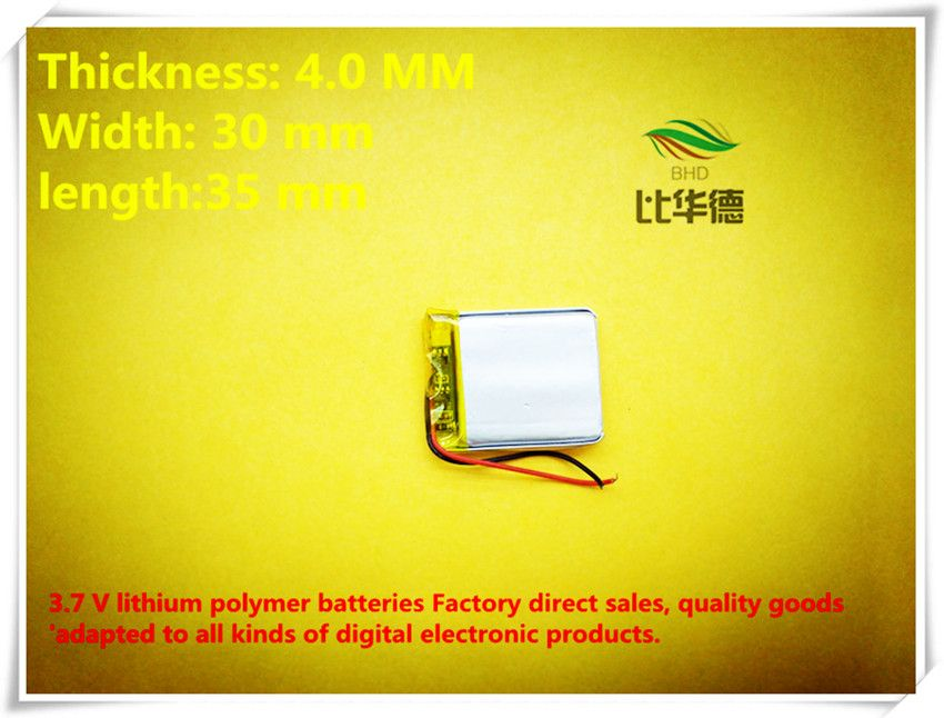 (free shipping) 3.7V 403035 380mah lithium-ion polymer battery quality goods quality of CE FCC ROHS certification authority