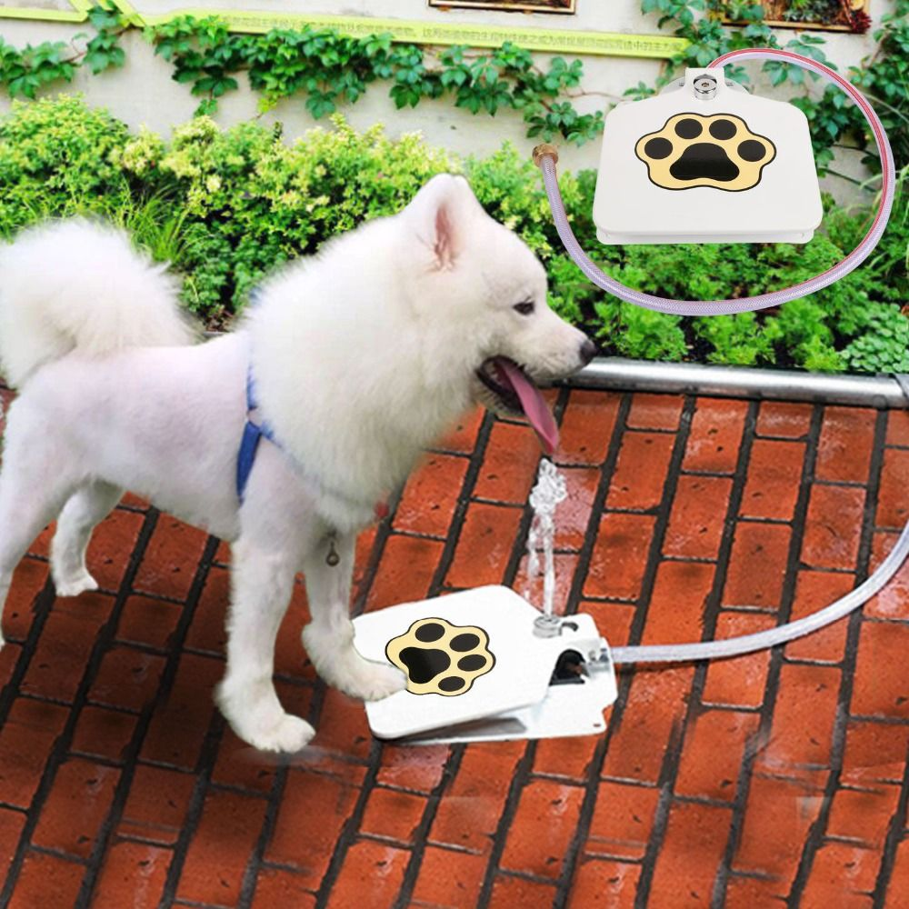 Lien de livraison directe pour la durabilité sans problème en plein air chien chat Pet boire chien fontaine d'eau nouveau chien arroseur nouveau
