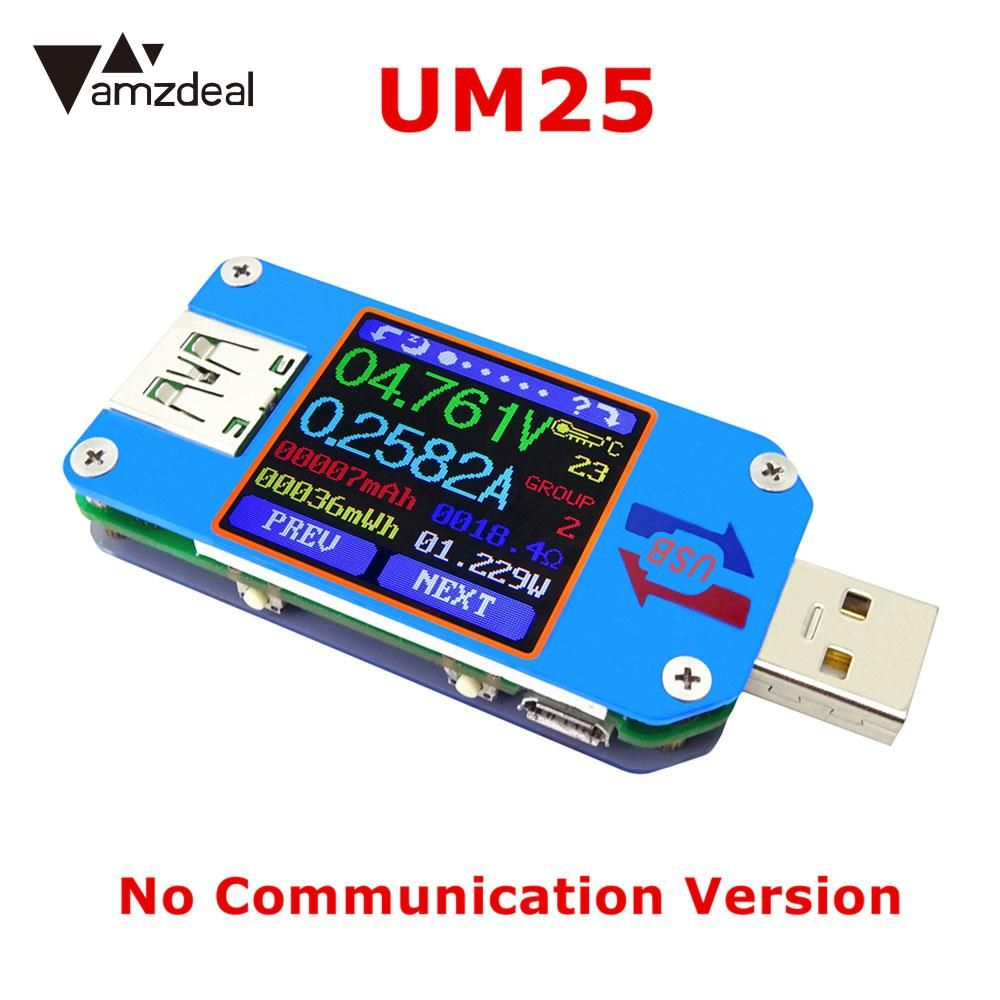 Bluetooth Power Capacity Detector Premium Current Voltmeter Ammeter Voltage Monitor LCD Display USB Charger Testers