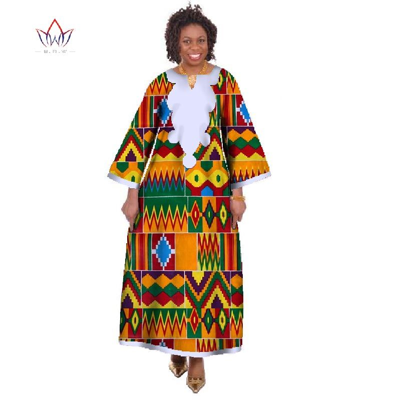 En gros Robes Africaines pour Femmes Dashiki Ropa Afrique Traditionnel Africain Robe Longue Africain Imprimer Robes WY175