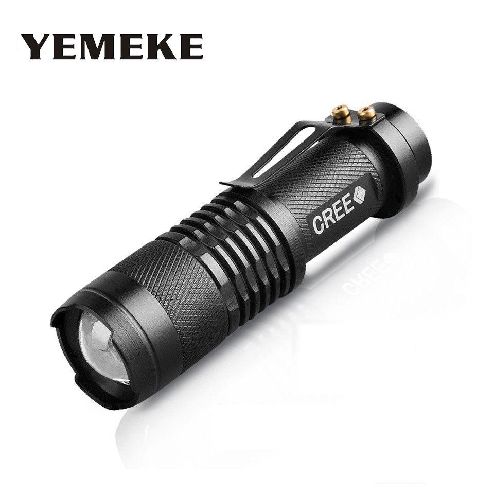 Высококачественные мини черный 2000LM Водонепроницаемый светодиодный фонарик 3 режима Масштабируемые светодиодный фонарик Penlight лампы Регули...