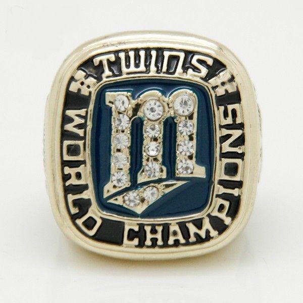 2015 Anneaux De Mode Pour Hommes vente Chaude 1987 Minnesota Twins World Series Championnat Anneau