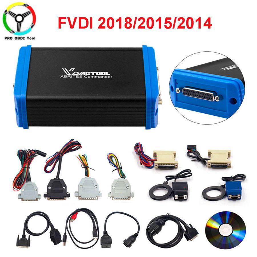 Newly Version 2018 FVDI Full Set Including 18 Software ABRITES Commander No Tokens Limited Update Online FVDI 2015/2014 DHL Free