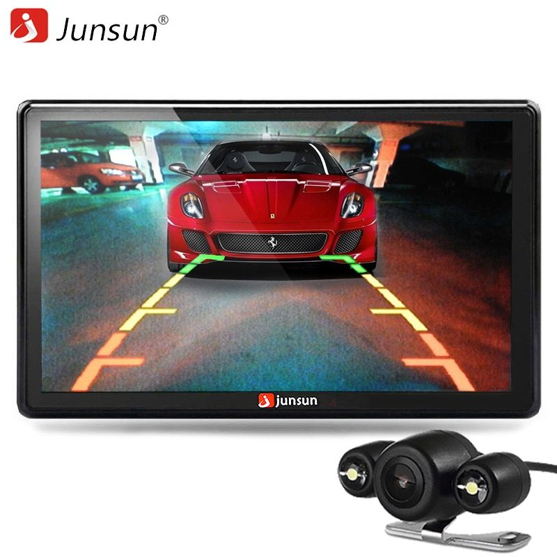 Junsun  HD 7 inch Car GPS Navigation Bluetooth with Rear view Camera FM AVIN 256MB DDR/800MHZ Maps Free Updates