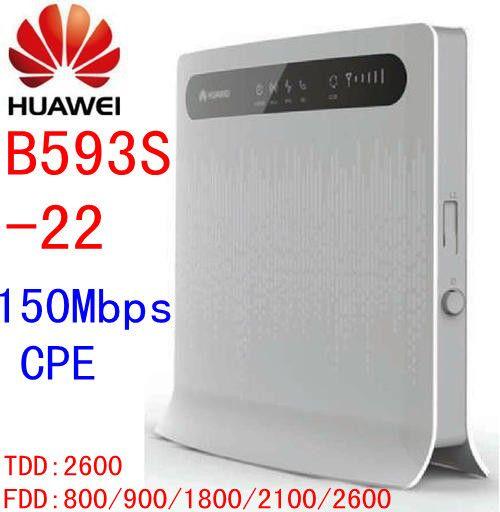 Débloqué Huawei B593s-22 routeur mifi 4G rj45 3g 4g wifi routeur avec emplacement pour carte sim b593 150 m port lan ethernet b593 rj11 téléphone
