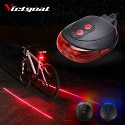 Фонарик для велосипедного света 2 лазеры Велосипедный свет безопасный ночной велосипедный фонарь задний фонарь для велосипедной лампы под...